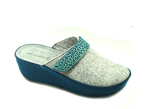 GRÜNLAND Women's Slippers Grey Ash QS5fYHjiW9