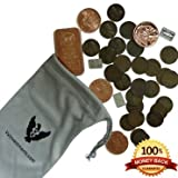 Vx Investments Ultimate Coin Bag. 25 Wheat Pennies, One Ounce Copper Bullion, Four 1/4 Ounce Copper Rounds, Three One Gram Silver Bars, And A Custom Microfiber Pouch.