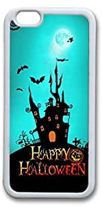 iPhone 6 Cases, Happy Halloween Personalized Custom Soft TPU White Edge Case Cover for New iPhone 6 4.7 inch by mcsharks