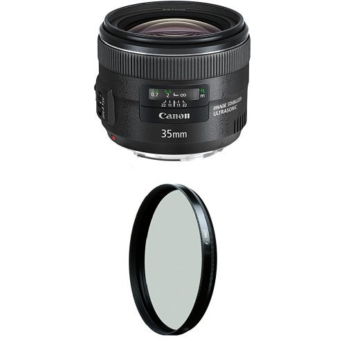 Canon EF 35mm f/2 IS USM Wide-Angle Lens w/ B+W 67mm HTC Kaesemann Circular Polarizer