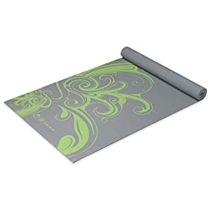 "Gaiam Yoga Mat Classic 4mm Print Exercise & Fitness Mat for All Types of Yoga, Pilates & Floor Exercises (68"" x 24"" x 4mm Thick)"