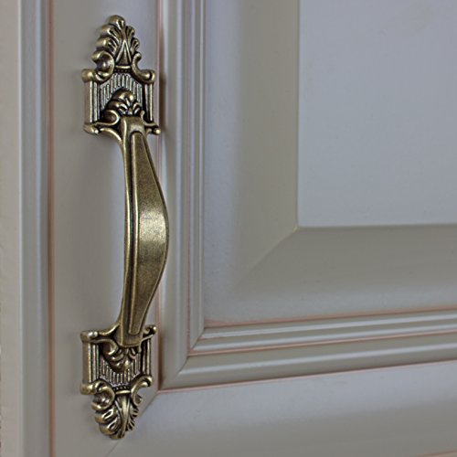 GlideRite Hardware 4116-AB-100 Deco Cabinet Pull, 100 Pack, 3.5'', Antique Brass by GlideRite Hardware (Image #2)