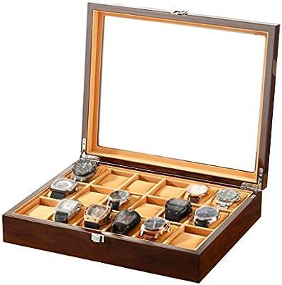Caja de Almacenamiento de Madera con Caja de Reloj de 24 ...