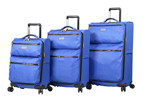 Lucas Ultra Lightweight 3 Piece Softside Expandable Luggage With Spinner Wheels (One Size, Royal Blue) by Lucas