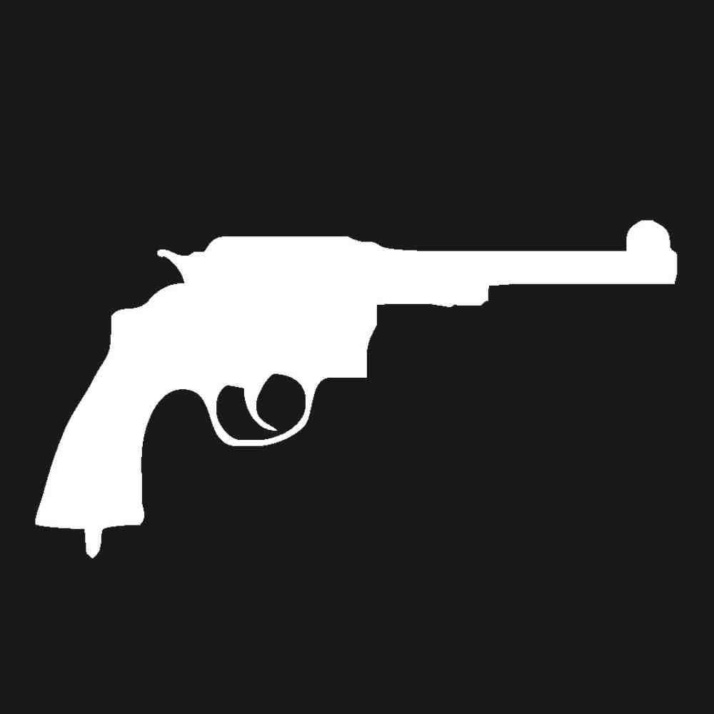 DECTN Nuevas Pegatinas Reflectantes para Automóviles Disparos De Municiones De Pistola
