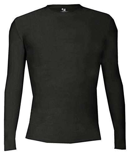 - Badger Performance Pro-Compression Long Sleeve Stretch T-Shirt, Small, Black