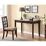 Benzara BM159087 Office Desk Dark Brown
