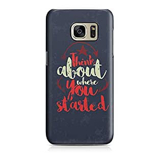 Samsung S7 Case Think About Where You Started Sleek Design Durable Samsung S7 Cover Wrap Around