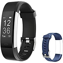 Letsfit Fitness Tracker HR, Activity Tracker Watch with Heart Rate Monitor, IP67 Water Resistant Smart Bracelet with Calorie Counter Pedometer Watch for Smart Phone only for Kids Women Men
