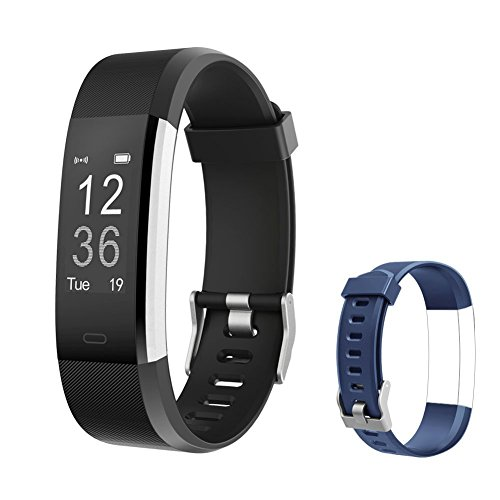 ker HR, Activity Tracker Watch with Heart Rate Monitor, IP67 Water Resistant Smart Bracelet with Calorie Counter Pedometer Watch for Smart Phone only for Kids Women Men ()
