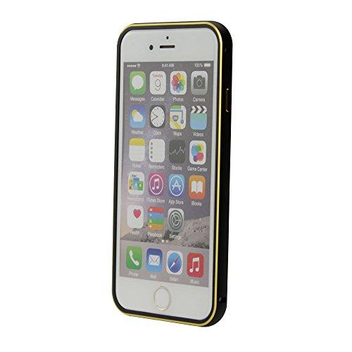 Apple iPhone 6S / 6 Aluminium Alu Schutzhülle Bumper Case Cover Deckel Schwarz von cTRON21