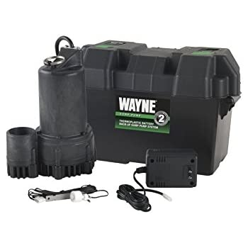 WAYNE ESP25 12 Volt Battery Back-Up Sump Pump System with Audible Alarm