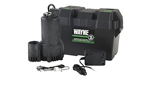 WAYNE ESP25 12 Volt Battery Back-Up Sump Pump System with Audible Alarm by Wayne