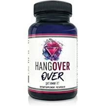 All-In-One Supplement For Hangover Prevention, Liver Detox, Electrolyte & Nutrient Replenishment, Focus, Improved Blood Flow with Milk Thistle - Hangover Over - 90 Veggie Capsules