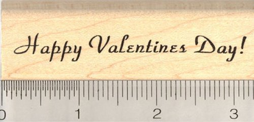 Happy Valentines Day Rubber Stamp (Happy Valentines Day Rubber Stamp)