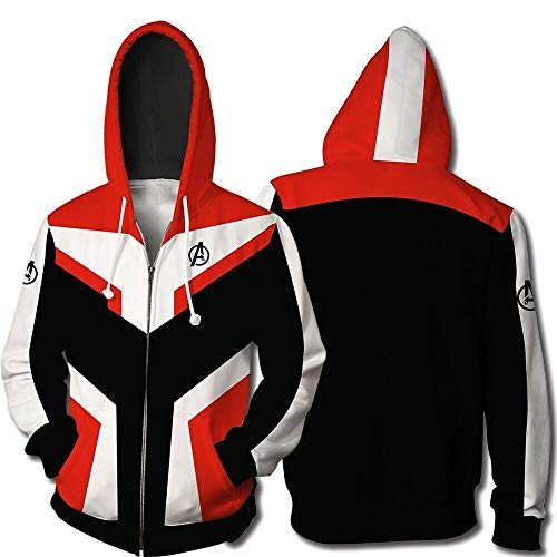 Super Hero Hoodie Adult Avengers League Sweatshirt Jacket Cosplay Costume Zipper Hooded Sweatshirts -