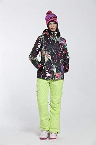 YEEFINE Women's Ski Jacket Waterproof Snowsuit Colorful Ski Jacket and Pants Set Snowboard Mountain Rain Jacket