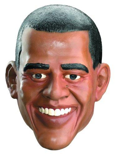Vinyl Costumes (Barrack Obama Vinyl Full Face Costume Mask)