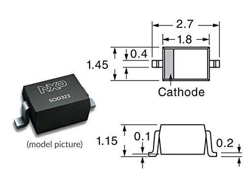 260pcs Kit Zener Diodes SMD SOD323 13 Values x 20pcs