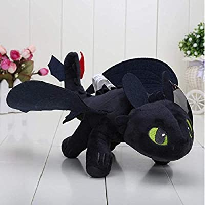 "HTTYD How to Train Your Dragon 2 - 10"" Toothless Night Fury Stuffed Animal Plush Doll Toy: Toys & Games"