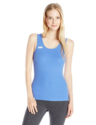 Soffe Women's Juniors Boy Beater Ribbed Tank Top, Amparo Blue, Small