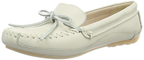Clarks Natala Rio, Mocasines para Mujer Blanco (White Leather)