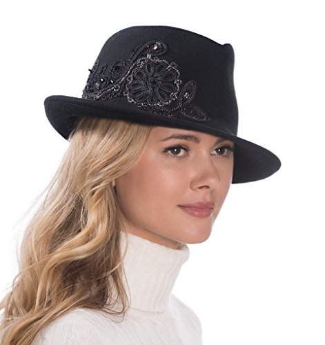 Eric Javits Luxury Fashion Designer Women's Headwear Hat - Adele - Black by Eric Javits