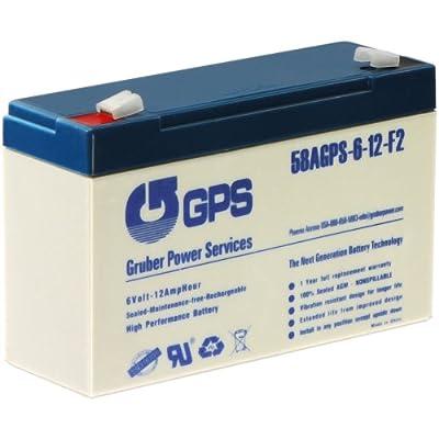 B.B. Battery 6V 12AH Battery, T2 Terminal
