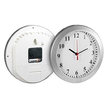 Technaxx-4218-Reloj-de-pared-con-cmara-y-micrfono-integrado-batera-recargable-por-USB-ranura-para-tarjeta-SD-indicador-LED-plata es