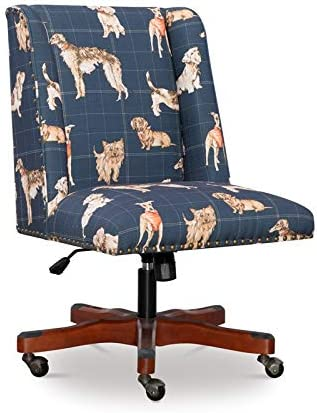 Linon Draper Dog Wood Upholstered Office Chair - a good cheap living room chair