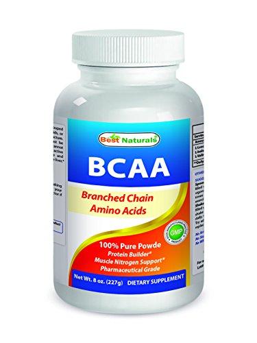 Best Naturals BCAA Powder 8 OZ Branch Chain Amino Acids Pharmaceutical Grade