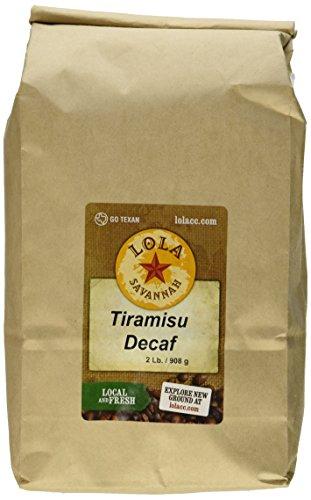 Lola Savannah Tiramisu Ground Coffee - Creamy Tiramisu creates An Italian Celebration In Every Cup | Decaf | 2lb Bag