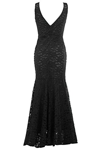 Long Elegant Black Formal Dresses Lace Butalways Women's Gown Evening Cheap Prom Mermaid W16OYqxB