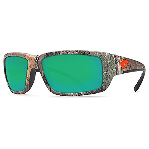 Costa Del Mar Fantail Sunglasses, Realtree Xtra Camo, Green Mirror 580 Plastic ()