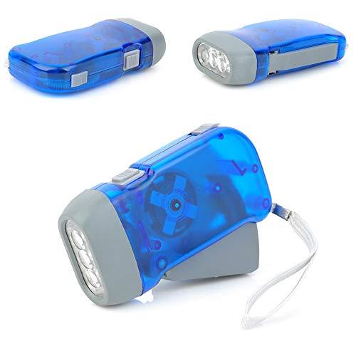 (Led Flashlights - Hand Crank Battery Free Flashlight Camping Lights 3 Leds Pressing Manual Generator Traveling Torch - Flashlights Tactical High Mode Batteries Pocket Operated Kids)