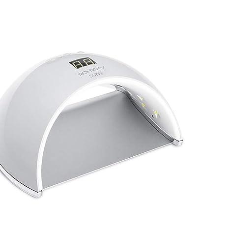 Lampara Led Uñas 48W Secador de Linterna UV Esmalte Permanente Para Sensor y Secado con 2