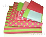 Pink Hearts Bedding Sheet Set Lil Mismatched 5 Pc Twin Sheets Girls