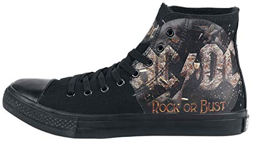Rock Bust Ac dc Or Negro Zapatillas ncSqpvWB6p