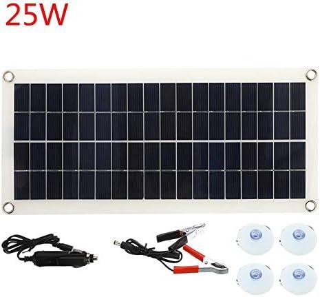 Zhang 25W Dual USB 12V Solar Panel mit Auto-Ladegerät Ausgang USB Solar-Ladegerät für Outdoor-Camping-LED-Licht