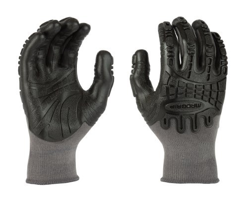 Madgrip Gloves Rubber Extra Large Black / Gray 1 Pair