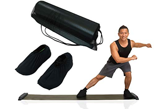 - Balance 1 Slide Board Pro-90 Inch(7.5FT) Super Smooth Board with Lycra Booties
