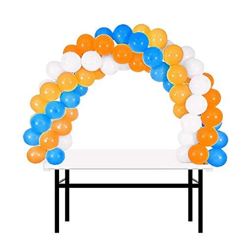 BalsaCircle 12 feet White Adjustable Balloon Arch Stand Kit for 6 feet Table - Wedding Birthday Graduation Party -