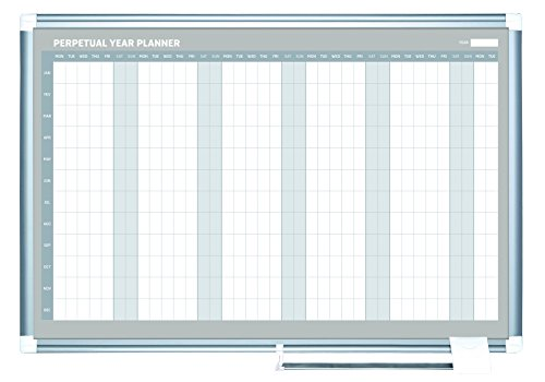 Year Calendar Dry Erase Board : Mastervision planning board magnetic dry erase yearly