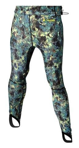 New Tilos UV Spearfishing Green Camouflage Lycra Spandex Pants (Large) for Use Over a Standard Wetsuit