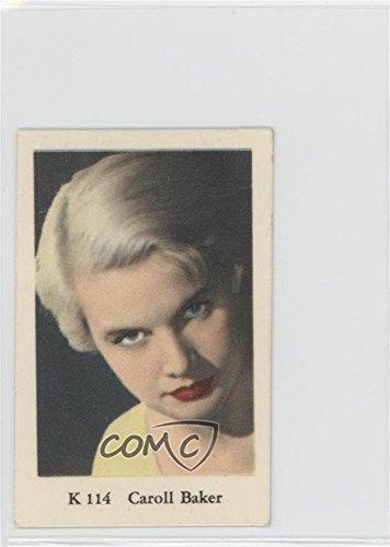 Text Single (Caroll Baker (Trading Card) 1950s Dutch Gum K Set Single Text Line - [Base] #K 114)