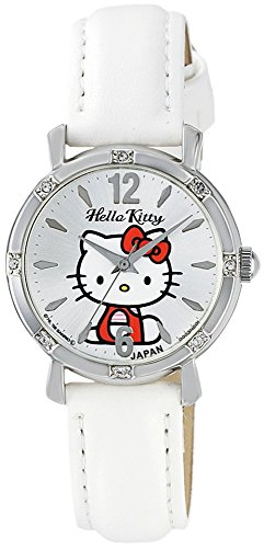 Price comparison product image Classic Hello Kitty Round Face Quartz Watch for Children and Teens