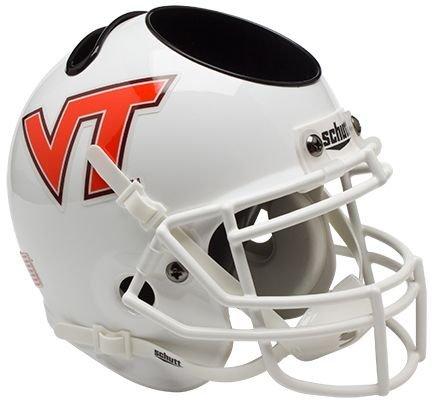 Schutt NCAA Virginia Tech Hokies Football Helmet Desk Caddy, White w/VT Alt. 7