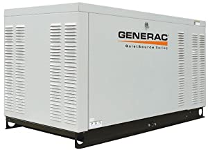 Generac QuietSource Series QT02724ANAX 27,000 Watt Liquid Cooled Propane/Natural Gas Powered Standby Generator Without Transfer Switch (CARB Compliant)