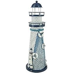 Nautical Ocean Lighthouse Color Changing LED Night Light Metal Vintage Openwork Ocean Lighthouse Wedding Lamp Desktop Ornaments