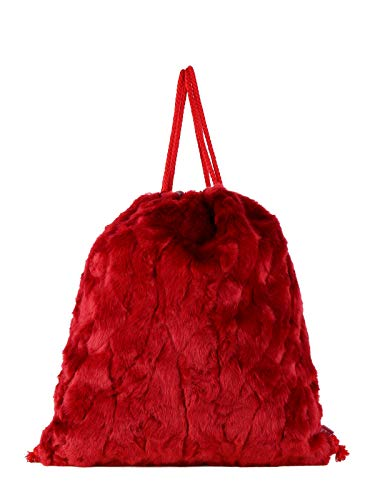 Solada Sintético Rojo Mujer Bolso De Cuero Mochila Para rznBrxq8w